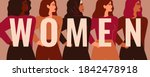 strong five women and girls of... | Shutterstock .eps vector #1842478918