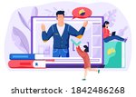 a girl holding check mark in...   Shutterstock .eps vector #1842486268