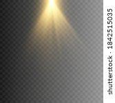 vector golden light. a golden... | Shutterstock .eps vector #1842515035