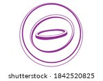 raw onion rings. onion slices... | Shutterstock .eps vector #1842520825