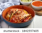 vegetarian tacos with cheese ...   Shutterstock . vector #1842557605