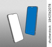 realistic smartphone mockup... | Shutterstock .eps vector #1842562078