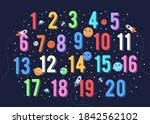 colorful number vector for kids.... | Shutterstock .eps vector #1842562102