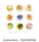 set of vivid social media... | Shutterstock .eps vector #1842563968