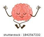 cartoon brain character...   Shutterstock .eps vector #1842567232