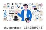 self development and person... | Shutterstock .eps vector #1842589345