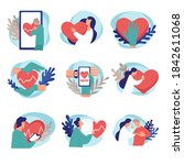 cardiology treatment and... | Shutterstock .eps vector #1842611068
