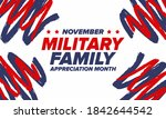 national military family month... | Shutterstock .eps vector #1842644542