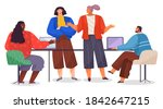 office staff  work and... | Shutterstock .eps vector #1842647215