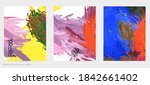 abstract vector flyer. colorful ...   Shutterstock .eps vector #1842661402