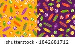 Bright Colorful Print With...
