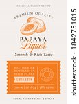 family recipe papaya liquor... | Shutterstock .eps vector #1842751015