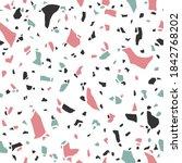 terrazzo seamless pattern.... | Shutterstock .eps vector #1842768202