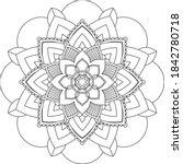 simple mandala coloring book... | Shutterstock .eps vector #1842780718