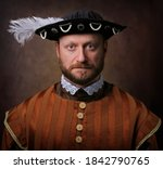 Portrait Of Medieval Man In...