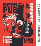 banner for beer pub with live...   Shutterstock .eps vector #1842809572