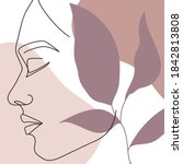 modern abstract faces  fashion... | Shutterstock .eps vector #1842813808