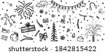 festive background. hand drawn... | Shutterstock . vector #1842815422