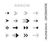 black arrows collection.... | Shutterstock .eps vector #1842860458