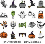 the best vector halloween... | Shutterstock .eps vector #1842888688