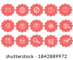 Web Icon Set In Pink Flower...