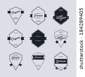 quality label art set   Shutterstock .eps vector #184289405