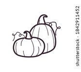 pumpkins line style icon design ...   Shutterstock .eps vector #1842911452