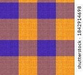 Knit Wool Plaid Background...
