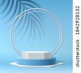 vector realistic round podium...   Shutterstock .eps vector #1842928132