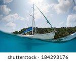 Split Shot Of The Sail Boat...