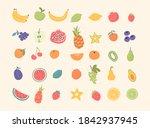doodle hand drawn fruits set.... | Shutterstock .eps vector #1842937945