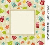 beige christmas background ...   Shutterstock .eps vector #18429430