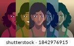 dissociative identity disorder...   Shutterstock .eps vector #1842976915