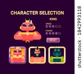 game ui character selection pop ...