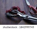 Rusty Old Iron Scissors  Handle ...