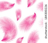 Seamless Feather Pink Pattern