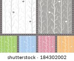 silver trees and birds. vector... | Shutterstock .eps vector #184302002