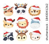 cute christmas greeting card... | Shutterstock .eps vector #1843041262