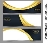 abstract banner gold web header ...   Shutterstock .eps vector #1843053802