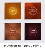 cool vinyl records music album... | Shutterstock .eps vector #1843054948