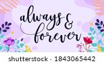 family home and romantic quotes ... | Shutterstock .eps vector #1843065442