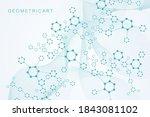 modern futuristic background of ... | Shutterstock .eps vector #1843081102