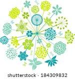 flower   Shutterstock .eps vector #184309832
