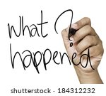 Постер, плакат: What happened hand writing