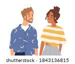 portrait of young happy couple... | Shutterstock .eps vector #1843136815