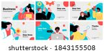 presentation and slide layout... | Shutterstock .eps vector #1843155508