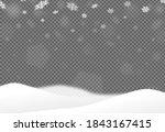 christmas bokeh falling snow... | Shutterstock .eps vector #1843167415