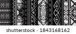 seamless pattern ethnic set for ... | Shutterstock .eps vector #1843168162