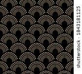 art deco design. abstract... | Shutterstock .eps vector #1843181125