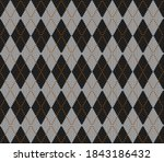 knitted argyle halloween... | Shutterstock .eps vector #1843186432
